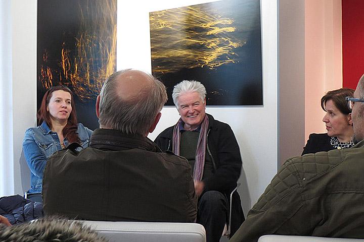 Künstlergespräch mit Prof. Dr. Deppner, projektartgalerie Bielefeld, 20.4.2016