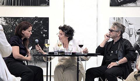 Kunsthaus Potsdam, Künstlergespräch, Sandra Bergemann mit Hilmar Thate und Lea Rosh, 2012