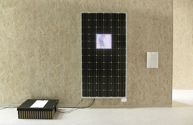 "Interaktives Solarpanel ""You are the sun"""